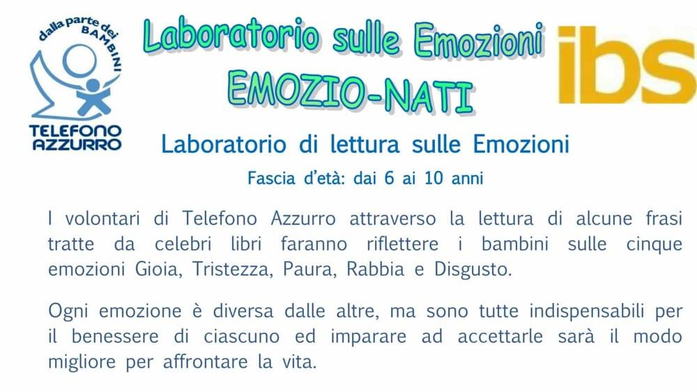 Favoloso Telefono Azzurro: al via il laboratorio sulle emozioni Eventi a Novara ZS71